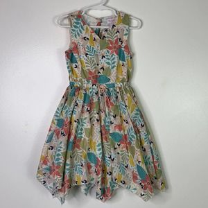 TOMMY BAHAMA Floral Handkerchief Dress 4T FLAWED